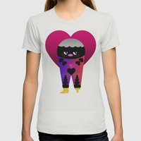 Lovely Love Womens Fitted Tee Silver SMALL
