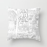 Sanhattan Throw Pillow