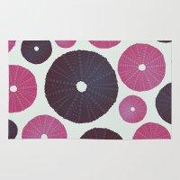 Sea's Design - Urchin Skeleton (Pink & Black) Rug