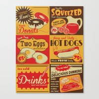 Retro Kitchen Advertising (no. 2) Canvas Print
