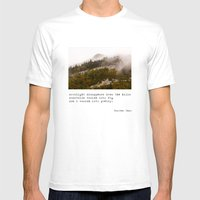 Mountains Vanish Into Fo… Mens Fitted Tee White SMALL