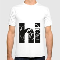 Swirly Hello Mens Fitted Tee White SMALL