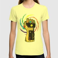 Infinite Power Womens Fitted Tee Lemon SMALL