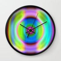 rainbow reactive Wall Clock
