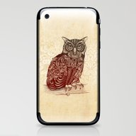 iPhone & iPod Skin featuring Most Ornate Owl by Rachel Caldwell
