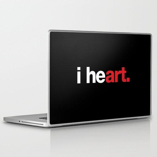 i heart (black) Laptop & iPad Skin