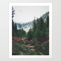 Mountain Trails Art Print
