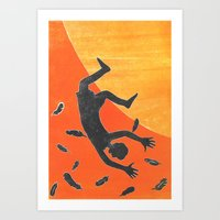 Icarus and Daedalus X Art Print
