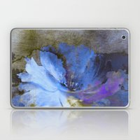 Blue Abstract Flower And… Laptop & iPad Skin