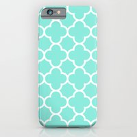 MOROCCAN {TEAL & WHITE} iPhone 6 Slim Case