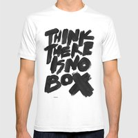 NOBOX Mens Fitted Tee White SMALL