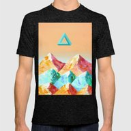 MOUNTAINOUS 2 Mens Fitted Tee Tri-Black SMALL