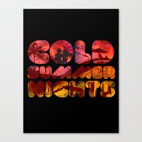 COLD SUMMER NIGHTS Canvas Print