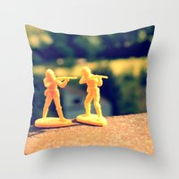 Brothers In Till The End Throw Pillow