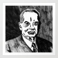31. Zombie Herbert Hoover  Art Print
