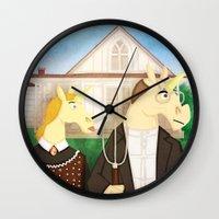 American Unicorn Wall Clock