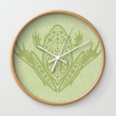 Tribal Leopard Frog Wall Clock