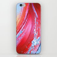 Acrylic Abstract On Canv… iPhone & iPod Skin