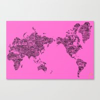 Where Will You Make Your Mark- Special Edition, Pink and Black Canvas Print