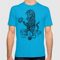 Natures Prisoner Mens Fitted Tee Teal SMALL