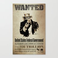 Wanted Poster Canvas Print