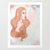 Pink Alice  Art Print