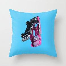 PINK MATCHBOX Throw Pillow