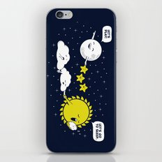 Night time, Day time iPhone & iPod Skin