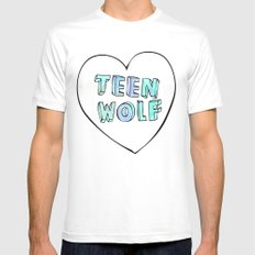 TEEN WOLF Mens Fitted Tee White SMALL