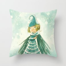 Goblins Drool, Fairies Rule! - Snowflake Shelly Throw Pillow