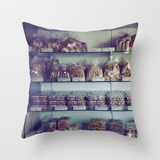 Greek Bakery Throw Pillow