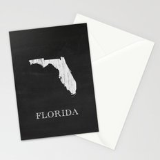 Florida State Map Chalk Drawing Stationery Cards