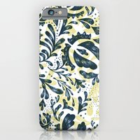 iPhone & iPod Case featuring Blue Flowers Pattern by Katya Zorin