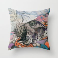 kitties Throw Pillow
