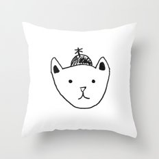 Being Fancy in a Hat Throw Pillow