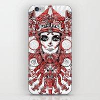 Red Serpent Queen iPhone & iPod Skin