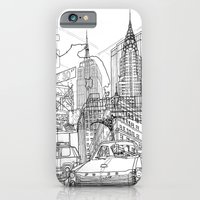 iPhone & iPod Case featuring New York! B&W by David Bushell