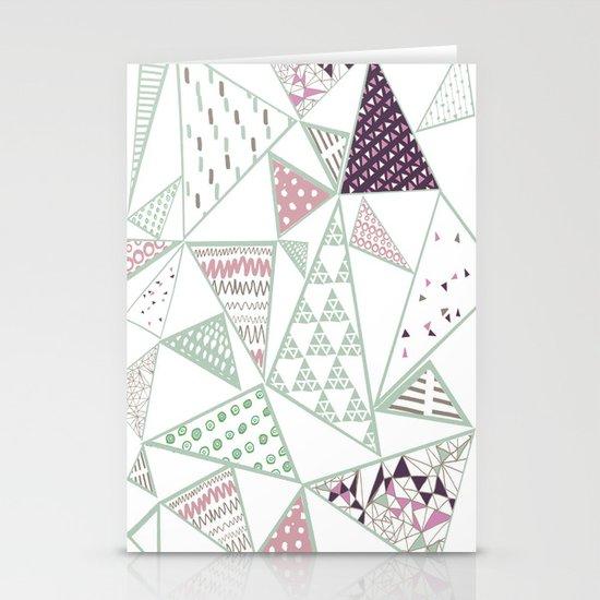 Triangle print 2 Stationery Card