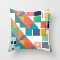Gumby Does LSD Throw Pillow