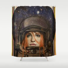 Give me Space (Girl) Shower Curtain