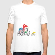 Bike is Life Mens Fitted Tee White SMALL