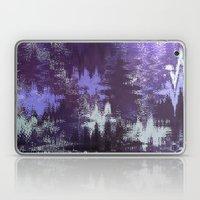 Purple Rain Glitch Laptop & iPad Skin