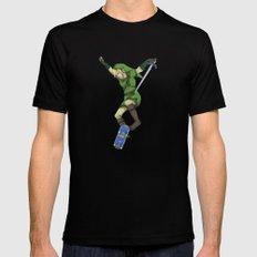 Skater Link - Zelda Mens Fitted Tee Black SMALL
