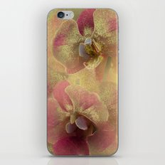 The mystery of orchid(gold). iPhone & iPod Skin