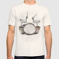 Mushroom drums Mens Fitted Tee Natural SMALL