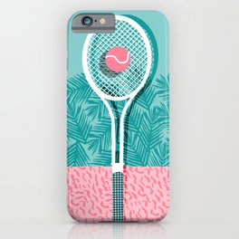 iPhone & iPod Case - Good to go - memphis throwback 1980s neon pastel abstract sports tennis racquetball athlete game  - Wacka