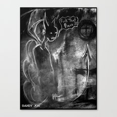 The Devil and the Church Canvas Print