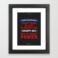 House Of Cards - Chapter… Framed Art Print