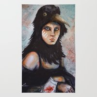 Raven Girl Rug