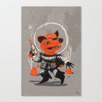 Cpt. Com. Spacecatkilla Canvas Print